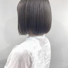 ボブ ハイトーンカラー 韓国ヘア 透明感カラー ヘアスタイルや髪型の写真・画像