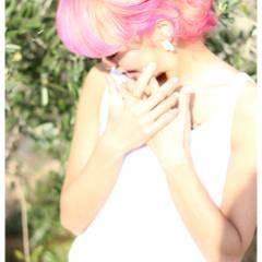 ピンク ヘアスタイルや髪型の写真・画像