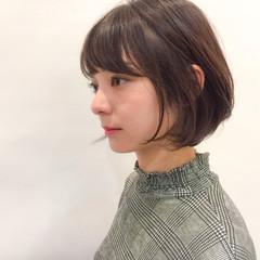 ショート 透明感 冬 デート ヘアスタイルや髪型の写真・画像