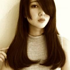 ナチュラル 黒髪 ロング コンサバ ヘアスタイルや髪型の写真・画像