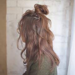 ゆるふわ 大人かわいい ロング ハーフアップ ヘアスタイルや髪型の写真・画像