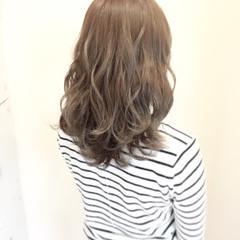 外国人風カラー エレガント 透明感 ミディアム ヘアスタイルや髪型の写真・画像