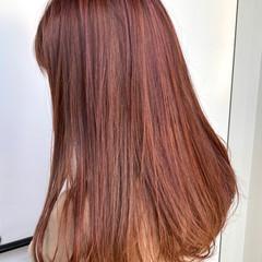 ロング デート 春 ピンクベージュ ヘアスタイルや髪型の写真・画像