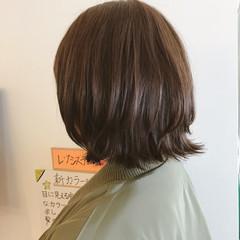 ボブ 簡単ヘアアレンジ ナチュラル オフィス ヘアスタイルや髪型の写真・画像