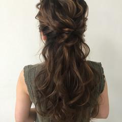 外国人風 ロング 大人かわいい ハーフアップ ヘアスタイルや髪型の写真・画像