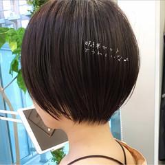 デートヘア 前髪あり ショートボブ ミニボブ ヘアスタイルや髪型の写真・画像