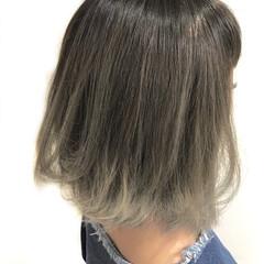 夏 イルミナカラー ボブ グラデーションカラー ヘアスタイルや髪型の写真・画像