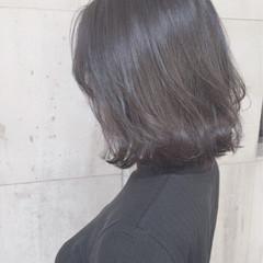 ボブ 冬 暗髪 グレージュ ヘアスタイルや髪型の写真・画像
