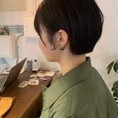 ショート ミニボブ 大人ショート ショートボブ ヘアスタイルや髪型の写真・画像