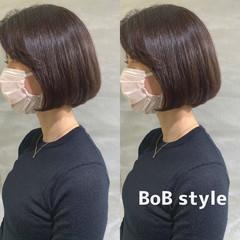 ベリーショート 韓国ヘア ナチュラル ミニボブ ヘアスタイルや髪型の写真・画像