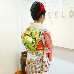セミロング エレガント 和装 上品 ヘアスタイルや髪型の写真・画像