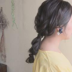 ヘアアレンジ ゆるふわ ウェーブ デート ヘアスタイルや髪型の写真・画像