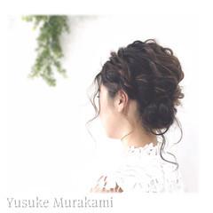 簡単ヘアアレンジ ミディアム フィッシュボーン ショート ヘアスタイルや髪型の写真・画像
