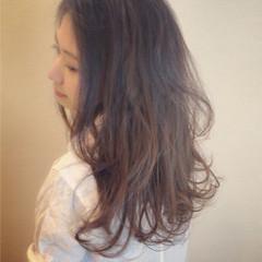 ナチュラル ロング ラベンダーアッシュ 中村アン ヘアスタイルや髪型の写真・画像