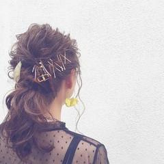 ヘアアレンジ ショート ミディアム 外国人風 ヘアスタイルや髪型の写真・画像