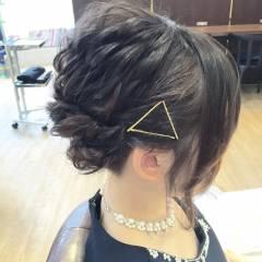ヘアアレンジ コンサバ 編み込み アップスタイル ヘアスタイルや髪型の写真・画像