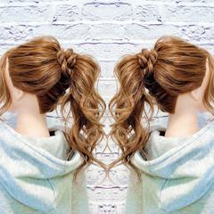 まとめ髪 セルフヘアアレンジ ロング フェミニン ヘアスタイルや髪型の写真・画像