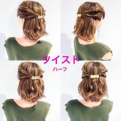 簡単ヘアアレンジ フェミニン ヘアアレンジ オフィス ヘアスタイルや髪型の写真・画像