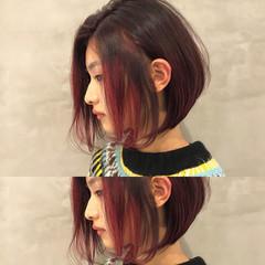 ショート ボブ スポーツ ナチュラル ヘアスタイルや髪型の写真・画像