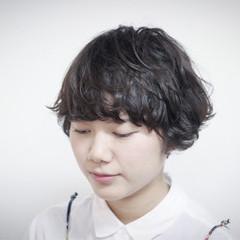 パーマ 黒髪 ゆるふわ 色気 ヘアスタイルや髪型の写真・画像