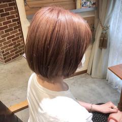 グレージュ ボブ ミルクティーベージュ ミルクティーグレージュ ヘアスタイルや髪型の写真・画像