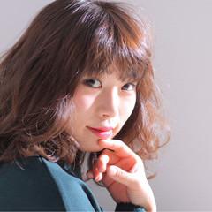 ミディアム 冬 色気 モテ髪 ヘアスタイルや髪型の写真・画像