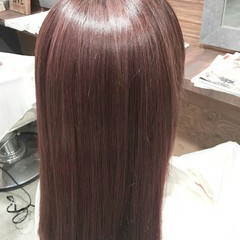レッド 大人かわいい ロング ピンク ヘアスタイルや髪型の写真・画像