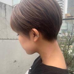 ベリーショート 小顔ショート 3Dハイライト モード ヘアスタイルや髪型の写真・画像