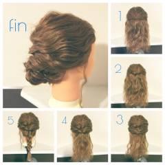 波ウェーブ ショート 結婚式 簡単ヘアアレンジ ヘアスタイルや髪型の写真・画像