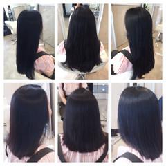 大人女子 セミロング 艶髪 ストレート ヘアスタイルや髪型の写真・画像