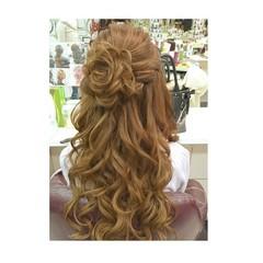 フェミニン 大人女子 ロング ヘアアレンジ ヘアスタイルや髪型の写真・画像