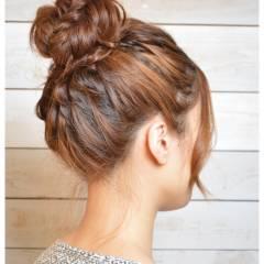 セミロング ヘアアレンジ 抜け感 大人かわいい ヘアスタイルや髪型の写真・画像
