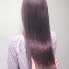 ロング 透明感 ハイライト アッシュ ヘアスタイルや髪型の写真・画像