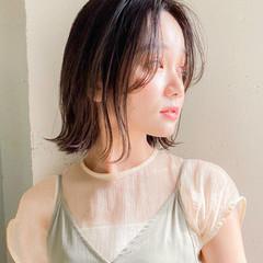 アンニュイほつれヘア 簡単ヘアアレンジ 大人かわいい ボブ ヘアスタイルや髪型の写真・画像
