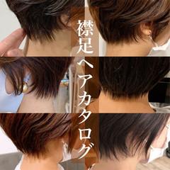 フェミニン 丸みショート ショートボブ ショート ヘアスタイルや髪型の写真・画像