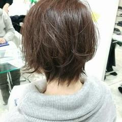 グラデーションカラー ショート 小顔 艶髪 ヘアスタイルや髪型の写真・画像