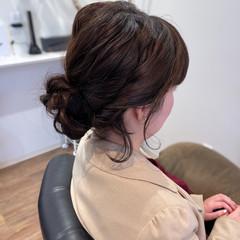 結婚式ヘアアレンジ フェミニン ボブアレンジ お呼ばれヘア ヘアスタイルや髪型の写真・画像