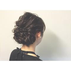 編み込み まとめ髪 お祭り ロング ヘアスタイルや髪型の写真・画像