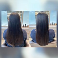 ナチュラル 髪質改善 暗髪 艶髪 ヘアスタイルや髪型の写真・画像