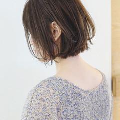 切りっぱなしボブ ミニボブ ナチュラル ショートボブ ヘアスタイルや髪型の写真・画像