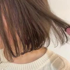 透明感 ラベンダーアッシュ ベージュ ナチュラル ヘアスタイルや髪型の写真・画像