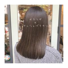 ロング イルミナカラー ツヤツヤ ツヤ髪 ヘアスタイルや髪型の写真・画像