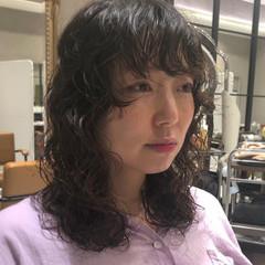 デジタルパーマ ニュアンスヘア パーマ ストリート ヘアスタイルや髪型の写真・画像