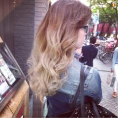 渋谷系 ピンク ストリート グラデーションカラー ヘアスタイルや髪型の写真・画像