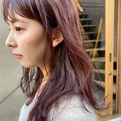 お洒落 透明感カラー ラベンダーピンク ナチュラル ヘアスタイルや髪型の写真・画像