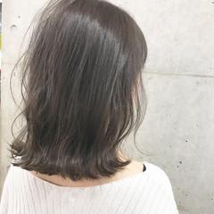 かっこいい 秋 デート セミロング ヘアスタイルや髪型の写真・画像