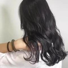 ダークグレー ダークカラー グレージュ ナチュラル ヘアスタイルや髪型の写真・画像