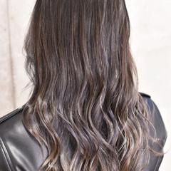 ダブルカラー 外国人風カラー セミロング ハイライト ヘアスタイルや髪型の写真・画像