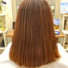 ナチュラル レッド オレンジ デート ヘアスタイルや髪型の写真・画像