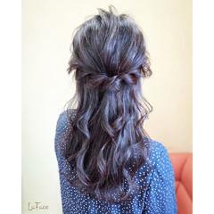 ヘアアレンジ ハーフアップ パーティ エレガント ヘアスタイルや髪型の写真・画像